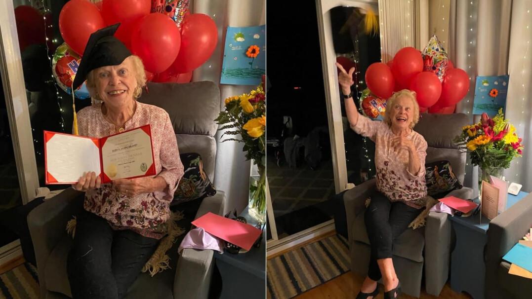 93-letnia Eileen po 75 latach otrzymała dyplom ukończenia szkoły