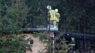 Pożar w stolarni zakładu pogrzebowego. Prawdopodobną przyczyną uderzenie pioruna